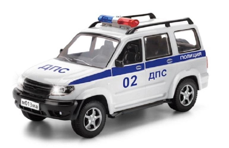 Инерционная машина УАЗ Патриот - Полиция со светом и звукомПолицейские машины<br>Инерционная машина УАЗ Патриот - Полиция со светом и звуком<br>