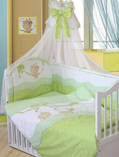 Комплект - Улыбка, зеленыйДетское постельное белье<br>Комплект - Улыбка, зеленый<br>