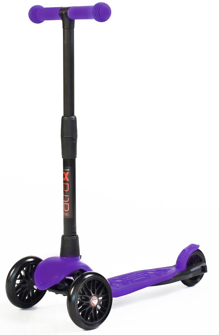 Самокат 3-колесный Alfa Model Buggy Boom со светящимися колесами, цвет фиолетовый