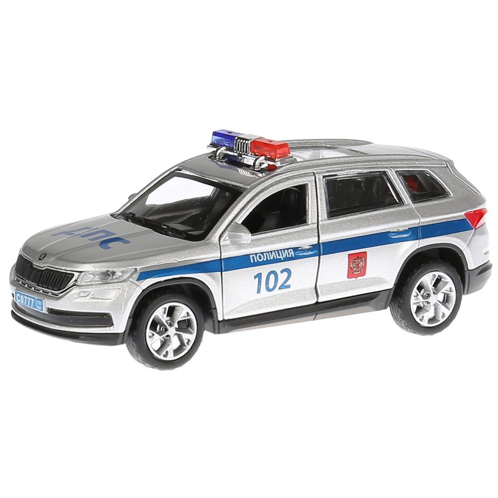 Купить Инерционная металлическая машина Skoda Kodiaq – Полиция, 12 см, Технопарк