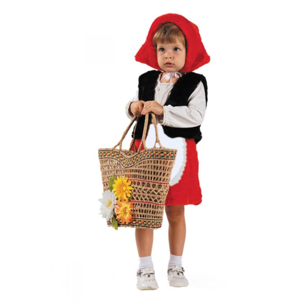 Карнавальный костюм - Красная шапочка, мех, размер 28