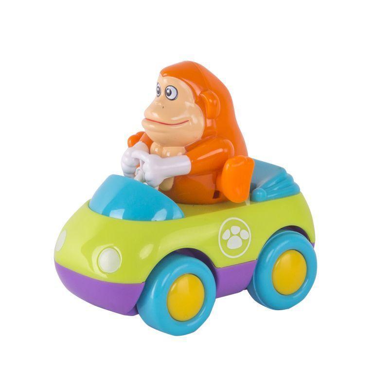 Инерционная машинка Зверушки на колесиках - ОбезьянкаМашинки для малышей<br>Инерционная машинка Зверушки на колесиках - Обезьянка<br>
