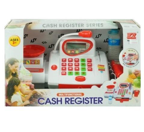 Кассовый аппарат со светом, звуком, аксессуарамиДетская игрушка Касса. Магазин. Супермаркет<br>Кассовый аппарат со светом, звуком, аксессуарами<br>