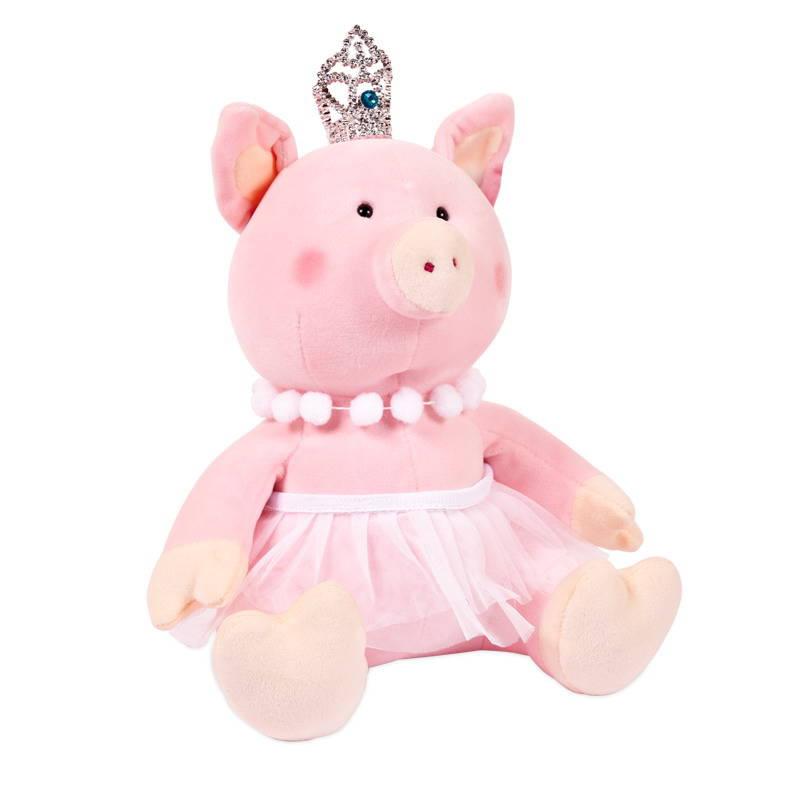 Купить Мягкая игрушка – Свинка-принцесса с короной, 22 см, Chuzhou Greenery Toys Co