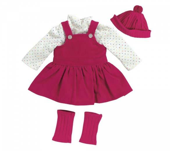 Костюм для куклы - Розовый джемпер