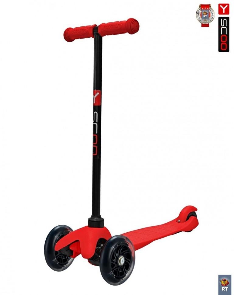 Купить Самокат mini A-5 Shine, красный, со светящими колесами, Y-Scoo
