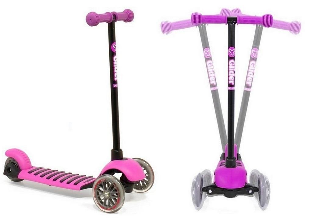 Самокат 3-х колесный Glider mini pinkТрехколесные самокаты<br>Самокат 3-х колесный Glider mini pink<br>