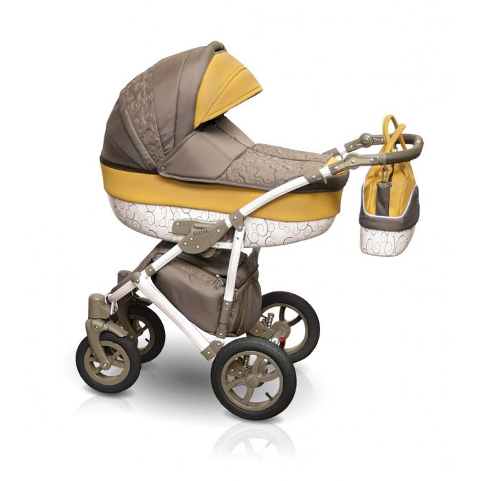 Детская коляска Camarelo Figaro 2 в 1, серо-желтаяДетские коляски 2 в 1<br>Детская коляска Camarelo Figaro 2 в 1, серо-желтая<br>