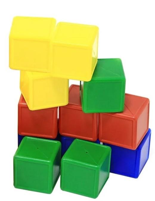 Набор из 12 кубиков с бортиком, выдувка