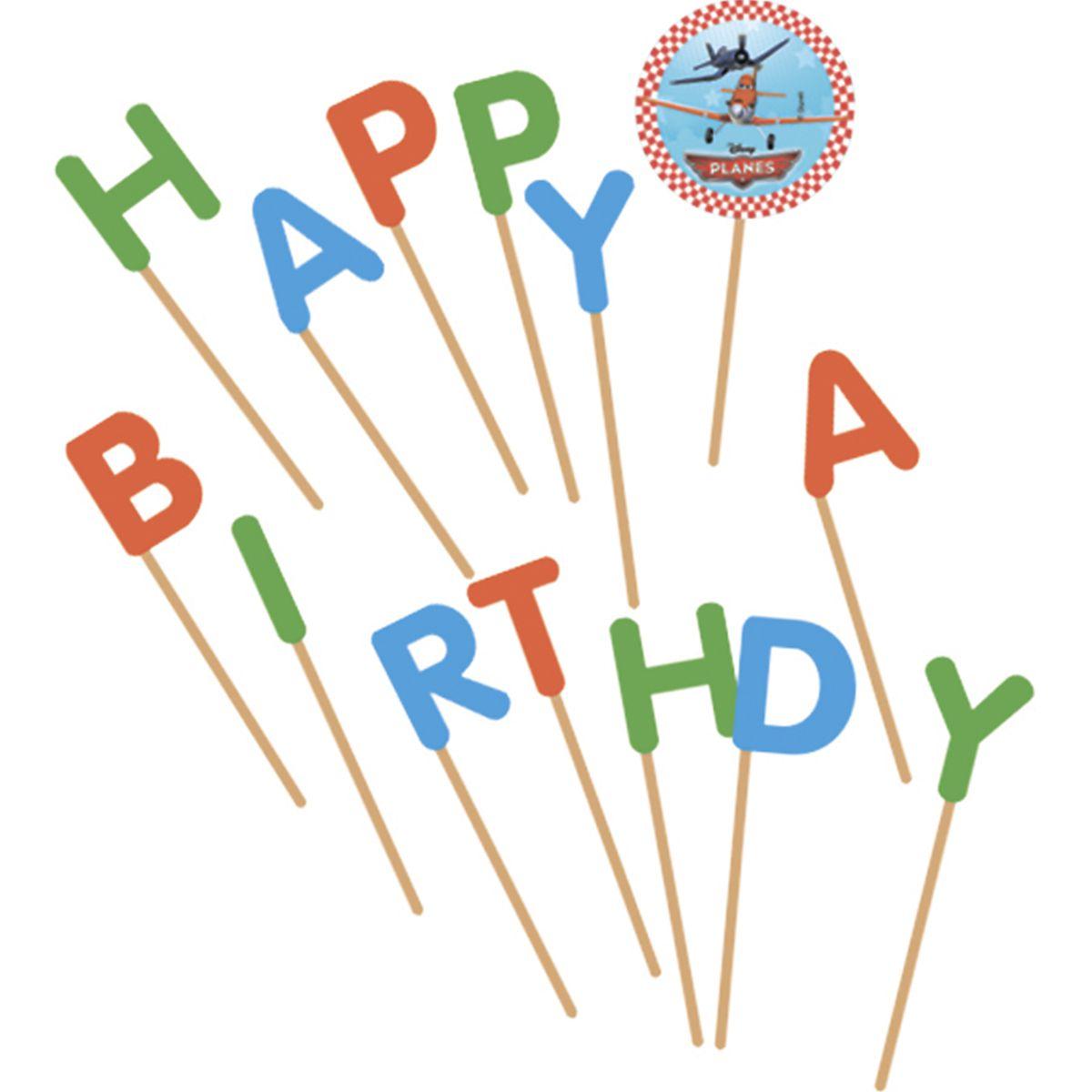 Свечи-буквы – Самолеты - Happy BirthdayСамолеты<br>Свечи-буквы – Самолеты - Happy Birthday<br>