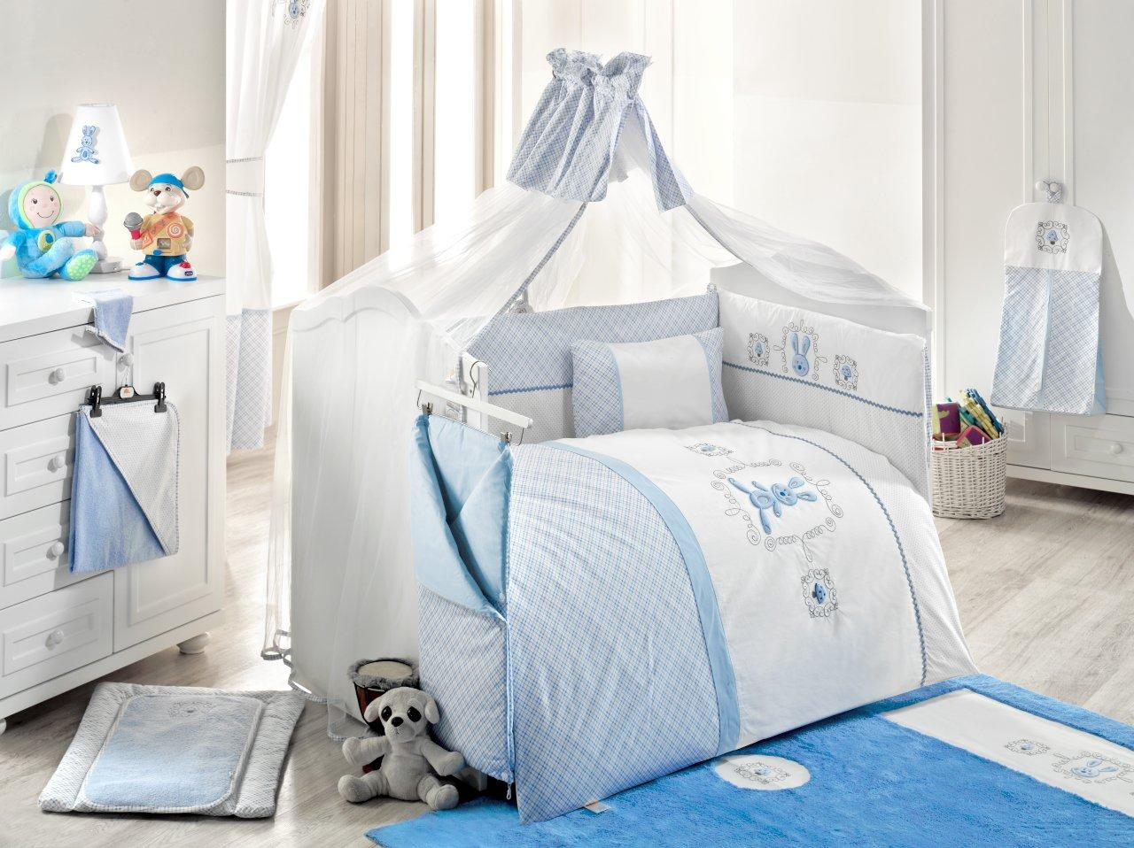 Балдахин серии Rabitto, 150 х 450 см, голубойДетское постельное белье<br>Балдахин серии Rabitto, 150 х 450 см, голубой<br>