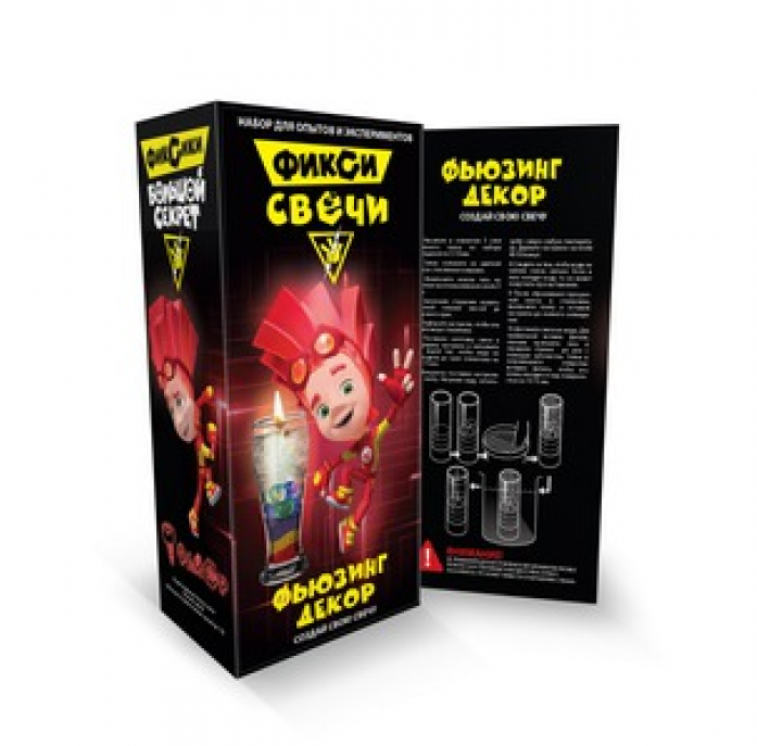 Набор для экспериментов из серии Фикси-опыты - набор малый для создания гелевых свечей Фьюзинг декор