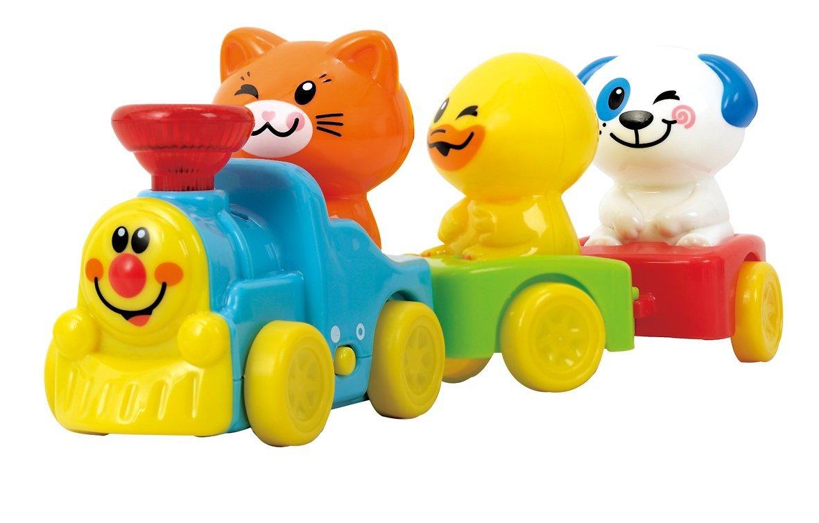 Игрушка развивающая - Паровозик с животнымиЖелезная дорога для малышей<br>Игрушка развивающая - Паровозик с животными<br>