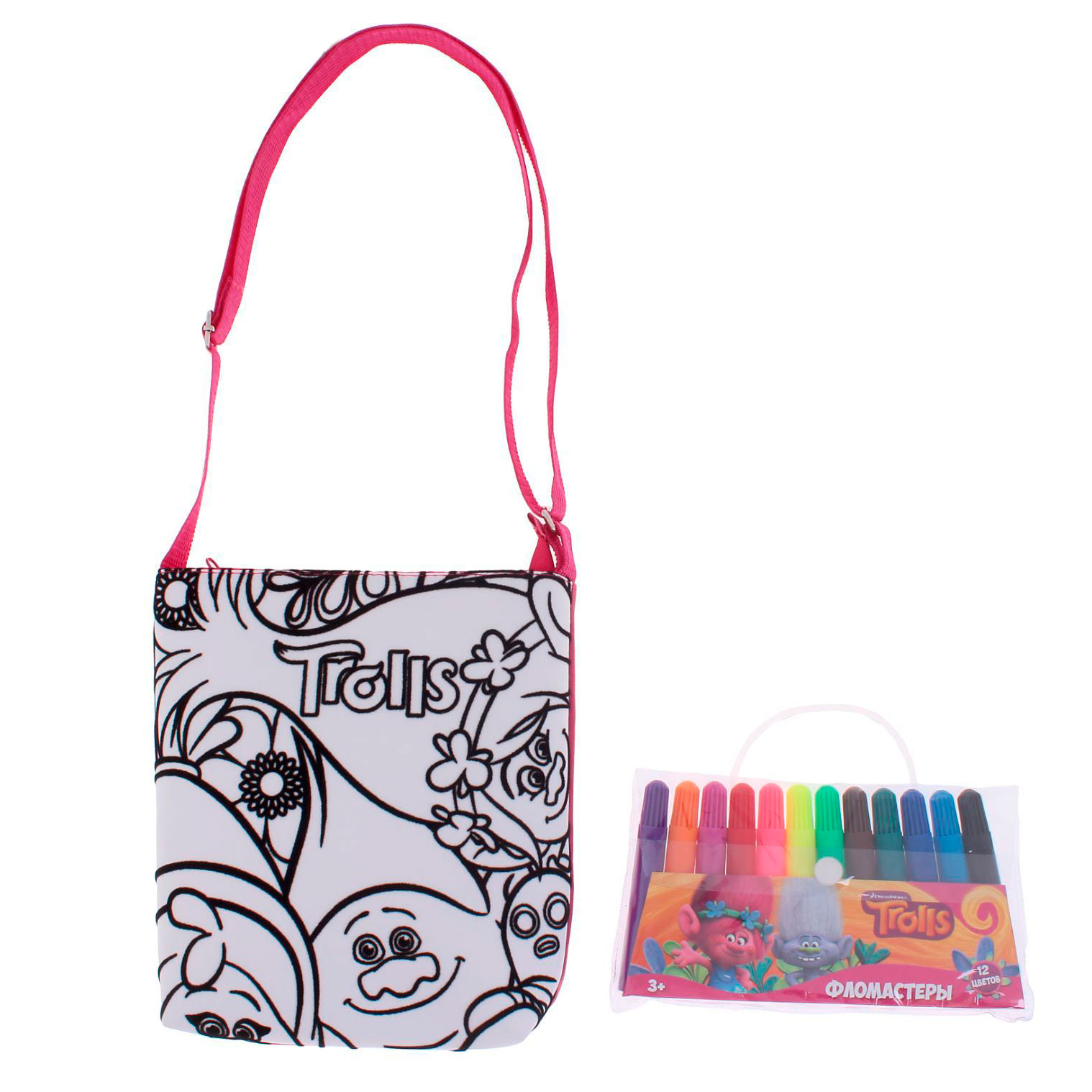 Набор Раскрась сумочку ТроллиСумки и  ркзачки Simba Color Me mine<br>Набор Раскрась сумочку Тролли<br>