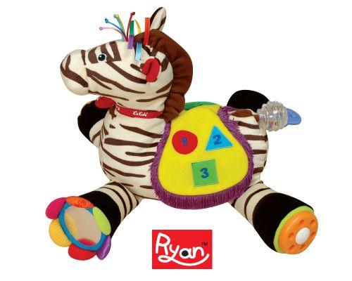 Развивающий центр Райан 18Развивающие игрушки Tiny Love<br>Мягкая зебра Райан поможет развлечь и развить малыша множеством игровых элементов. Зебра – мягкая игрушка. Хвостик – погремушка, где в про...<br>