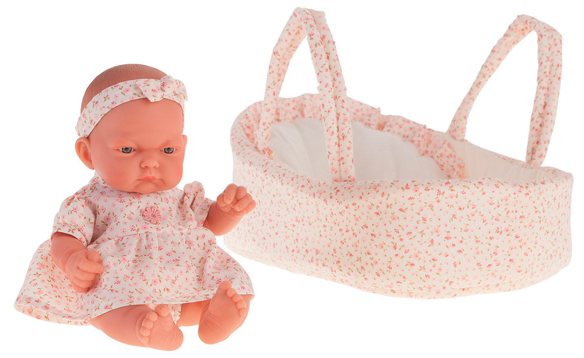 Кукла-младенец Вера в розовой люльке, 26 см