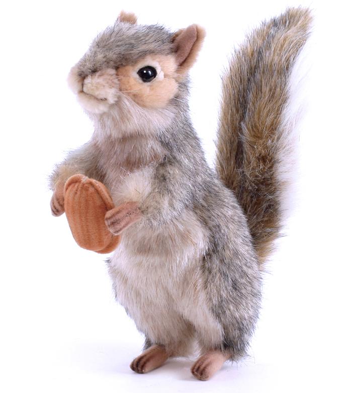Мягкая игрушка - Белка серая, стоячая, 20 смДикие животные<br>Мягкая игрушка - Белка серая, стоячая, 20 см<br>