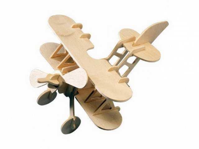 Модель деревянная сборная - Аэроплан