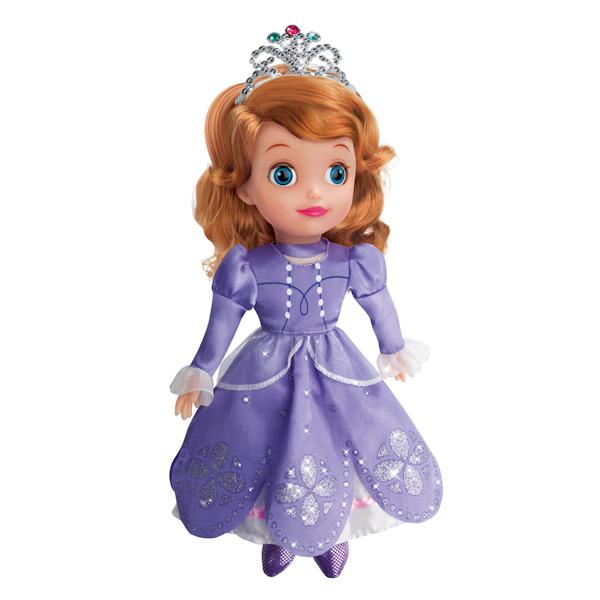Кукла Принцесса София Дисней, 30 см., озвученная, с мягким телом - Мягкие куклы, артикул: 139189