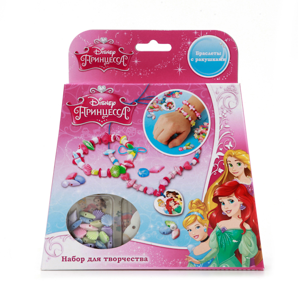 Набор для создания украшений из ракушек - Принцессы DisneyТворчество<br>Набор для создания украшений из ракушек - Принцессы Disney<br>