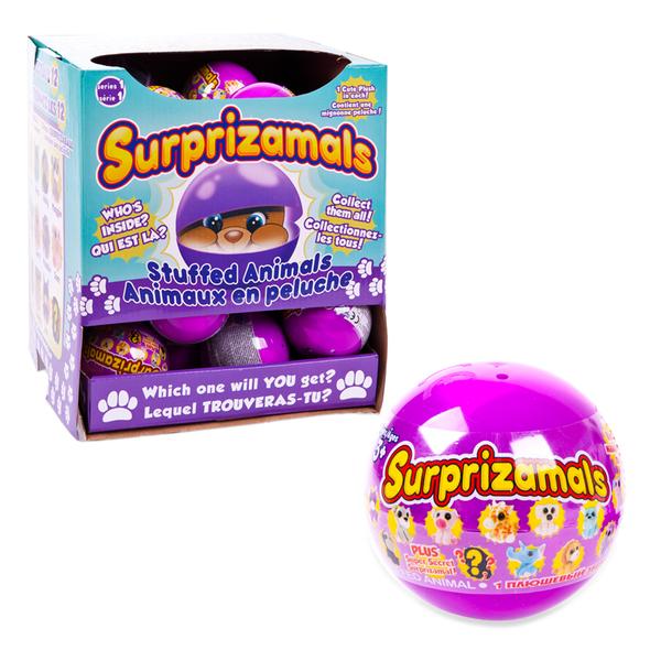 Плюшевые фигурки зверят в капсулах из серии игрушка-сюрприз Surprizamals, 12 видов, диаметр капсулы 6 см., Beverly Hills Teddy Bear  - купить со скидкой
