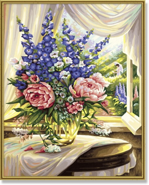 Цветы на столеРаскраски по номерам Schipper<br>Цветы на столе<br>