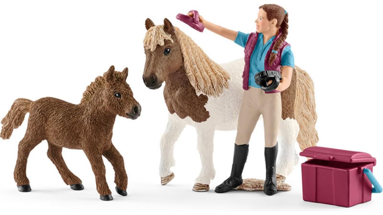 Купить Набор фигурок - Конюх с шотландским пони, Schleich