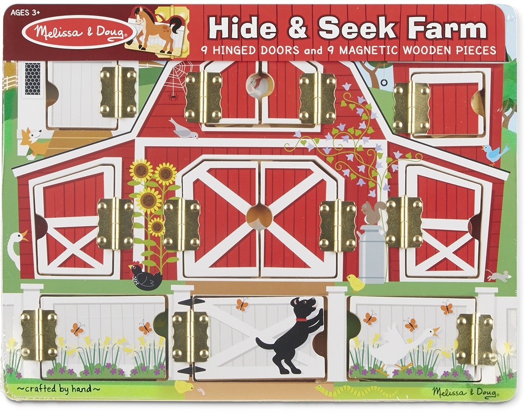 Купить Доска с окошками - Ферма, из серии Магнитные игры, Melissa&Doug