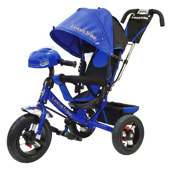 Велосипед 3-х колесный - Lexus Trike, синий с надувными колесами диаметром 30 и 25 см, светомузыкальная модель, регулируемая спинкаВелосипеды детские<br>Велосипед 3-х колесный - Lexus Trike, синий с надувными колесами диаметром 30 и 25 см, светомузыкальная модель, регулируемая спинка<br>