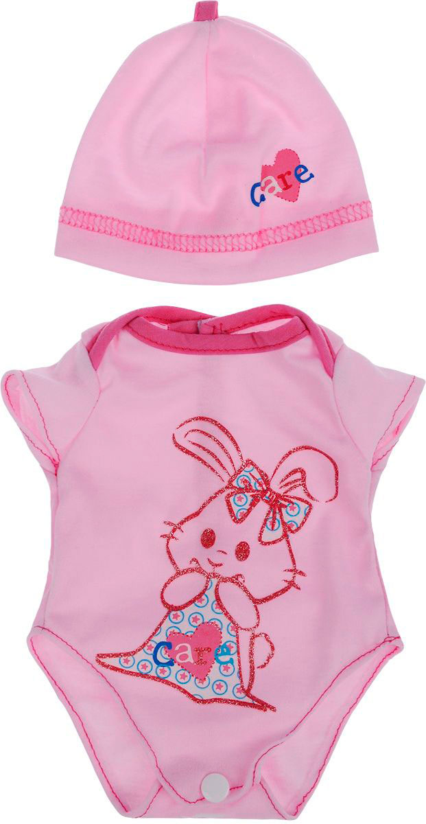 Купить Одежда для кукол: боди в наборе с шапочкой, JUNFA TOYS