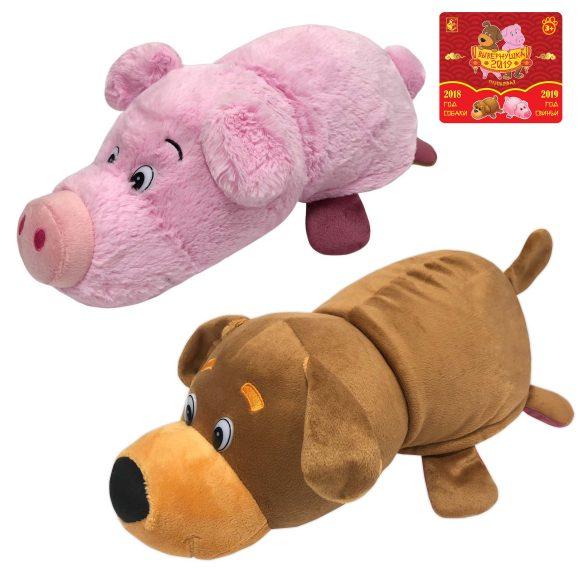 Мягкая игрушка из серии Вывернушка 2в1 Собака-Свинья, 35 см. 1TOY