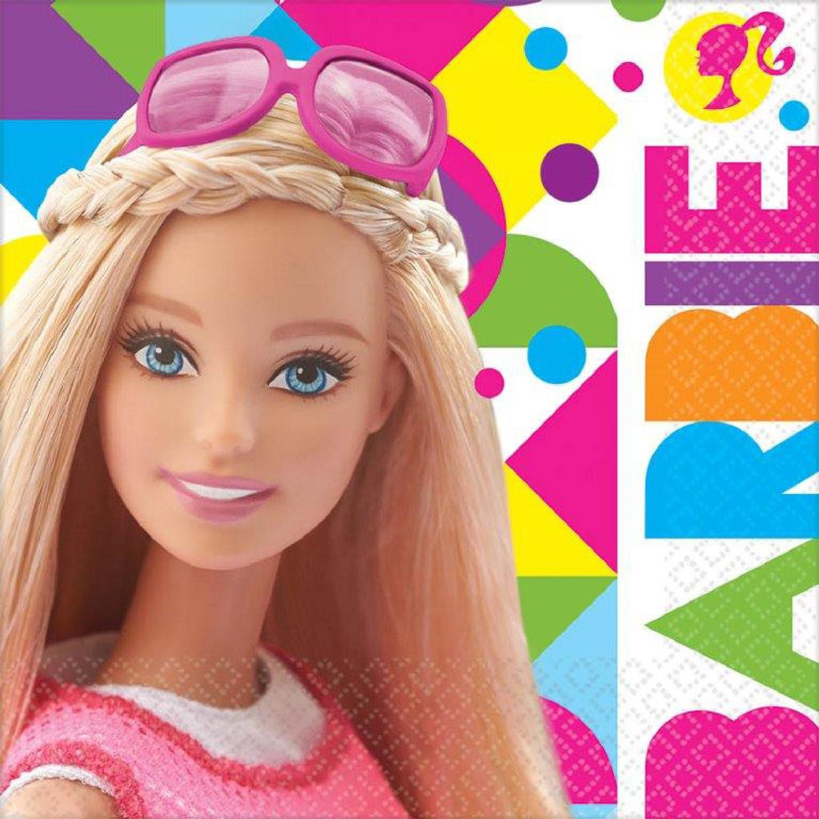 Салфетка Барби, 33 см 16 штукBarbie (Барби)<br>Салфетка Барби, 33 см 16 штук<br>