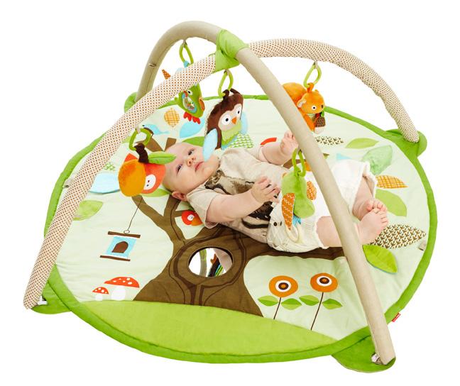 Гимнастический коврик с дугами - Лесные обитателиДетские развивающие коврики для новорожденных<br>Гимнастический коврик с дугами - Лесные обитатели<br>