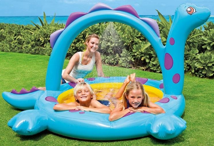Бассейн Динозаврик - Детские надувные игрушки и бассейны, артикул: 96953