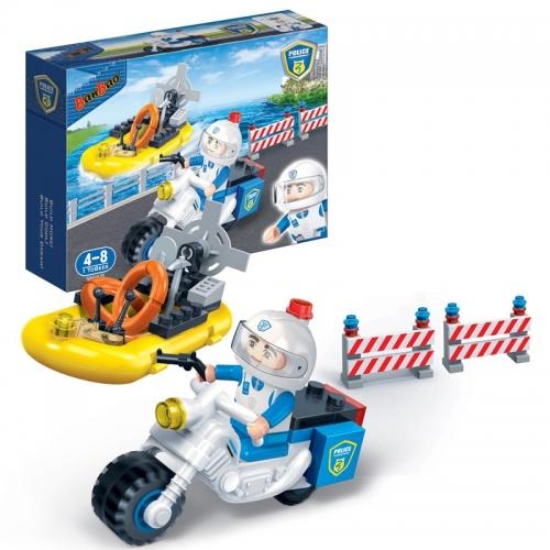 Конструктор - Полицейский мотоцикл, 61 детальКонструкторы BANBAO<br>Конструктор - Полицейский мотоцикл, 61 деталь<br>