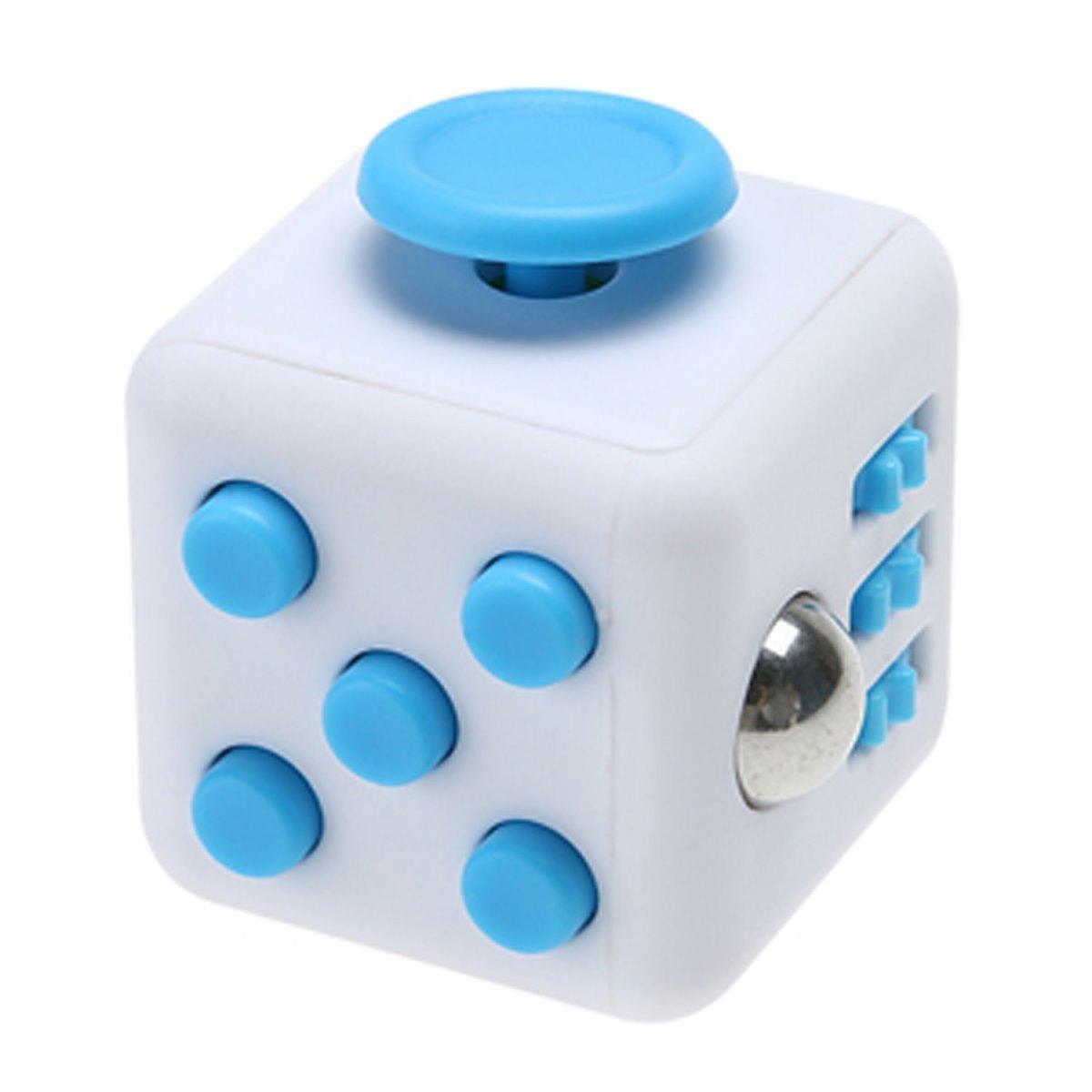 Игрушка-антистресс - FidgetCube Light, бело-синийАнтистресс кубики Fidget Cube<br>Игрушка-антистресс - FidgetCube Light, бело-синий<br>