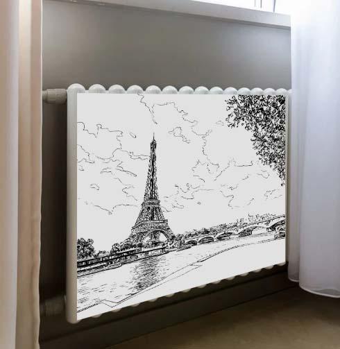 Декор магнитный для радиатора – Эйфелева башня, 50 x 80 cм
