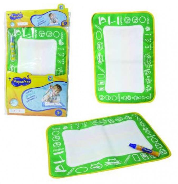 Купить Коврик для рисования с водным маркером AquaArt, зеленый, 30 х 45 см, 1TOY