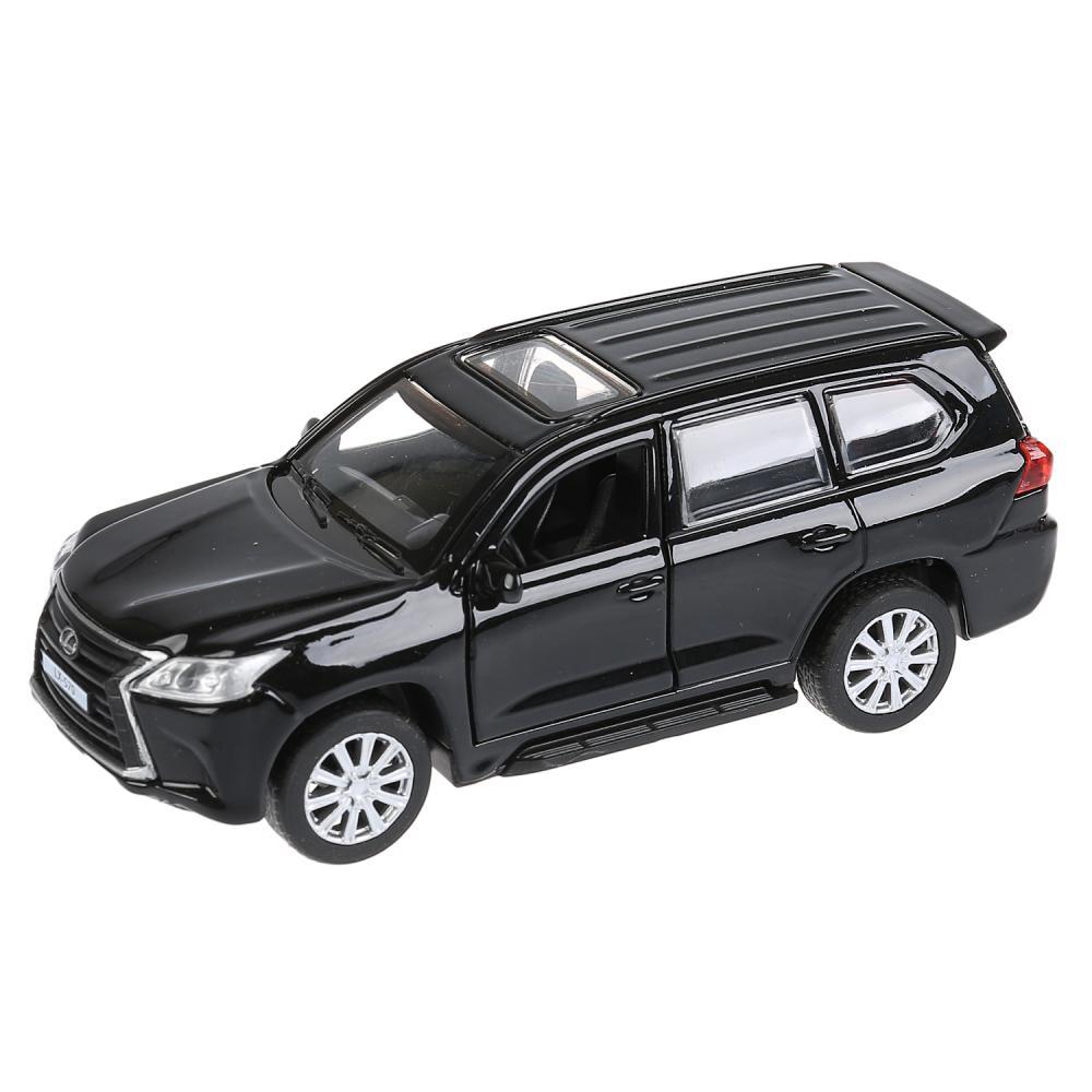 Купить Модель Lexus LX-570, 12 см, открываются двери, инерционная, черная, Технопарк