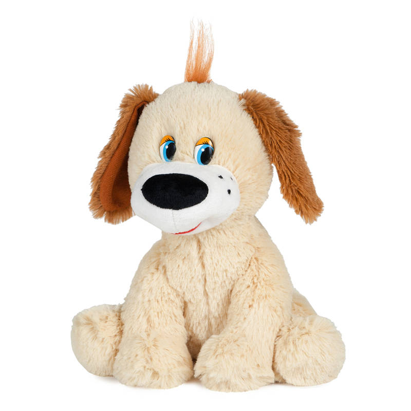 Мягкая игрушка озвученная  Собачка Тузик с коричневыми ушами, 20 см. - Говорящие игрушки, артикул: 165880