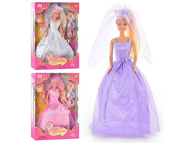 Кукла Defa – Невеста с аксессуарами, 29 см, 3 видаКуклы Defa Lucy<br>Кукла Defa – Невеста с аксессуарами, 29 см, 3 вида<br>