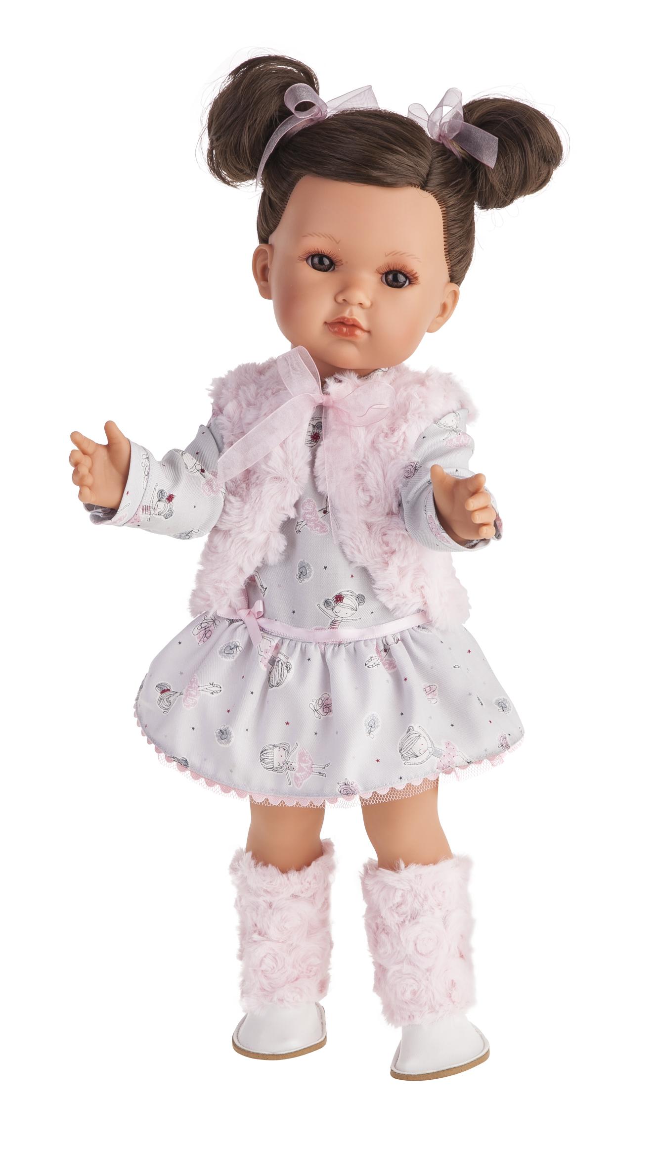 Кукла Белла в розовом жилете, 45 см.Куклы Антонио Хуан (Antonio Juan Munecas)<br>Кукла Белла в розовом жилете, 45 см.<br>