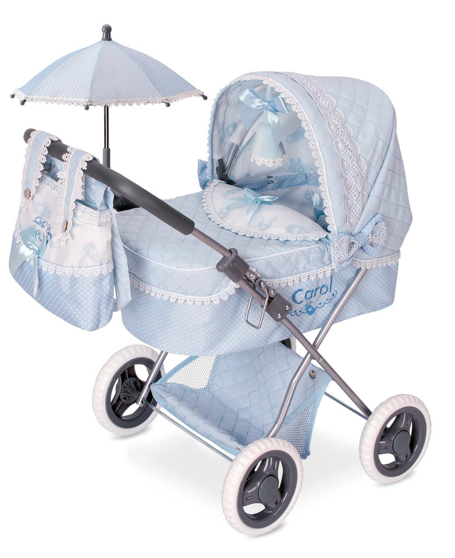 Коляска с сумкой и зонтиком серии Кэрол, 60 см.