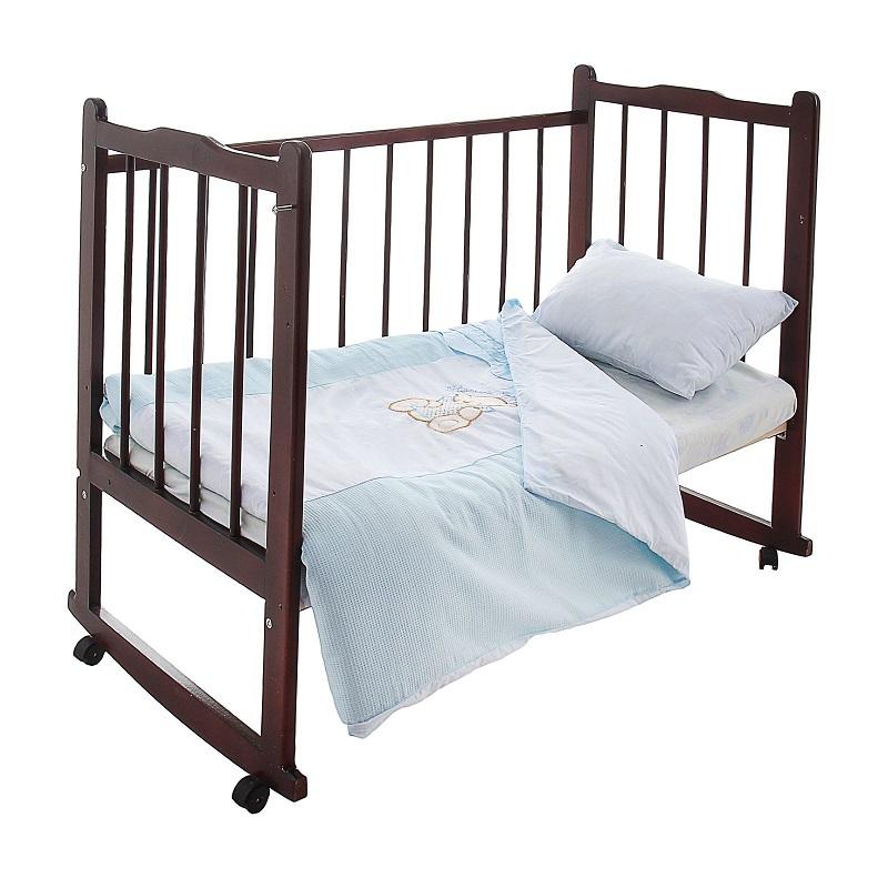 Постельное белье Сабина, 3 предмета, голубоеДетское постельное белье<br>Постельное белье Сабина, 3 предмета, голубое<br>