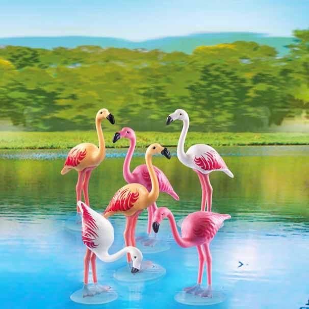 Набор из 6 фигурок - Зоопарк: Стая ФламингоФерма<br>Набор из 6 фигурок - Зоопарк: Стая Фламинго<br>