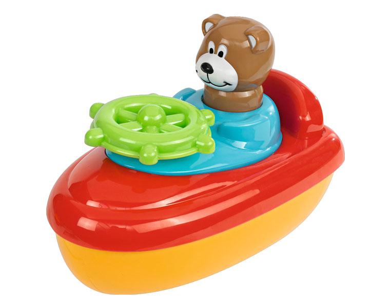 Игрушка для ванной - Лодочка с фигуркойКорабли и катера в ванну<br>Игрушка для ванной - Лодочка с фигуркой<br>