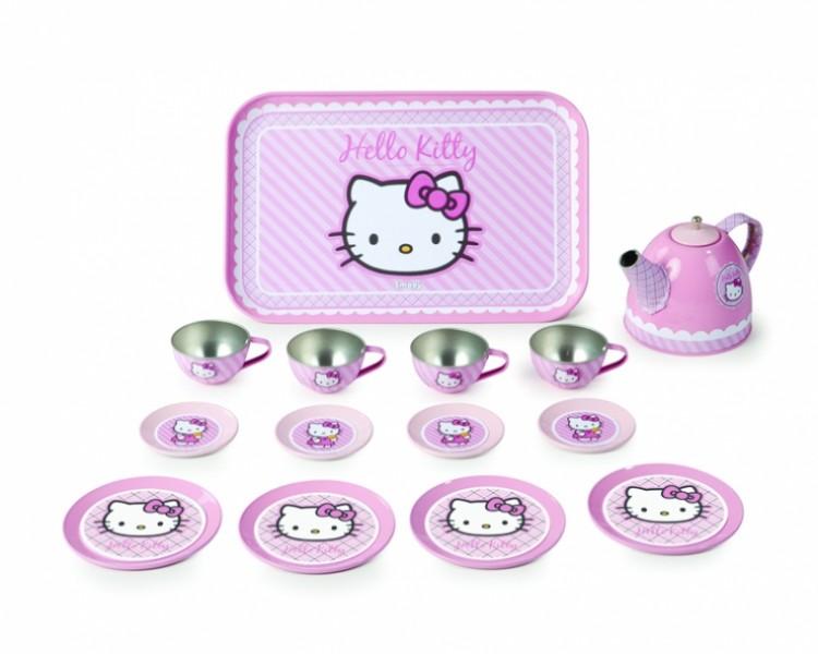 Набор металлической посуды на 14 предметов, Hello KittyАксессуары и техника для детской кухни<br>Набор металлической посуды на 14 предметов, Hello Kitty<br>
