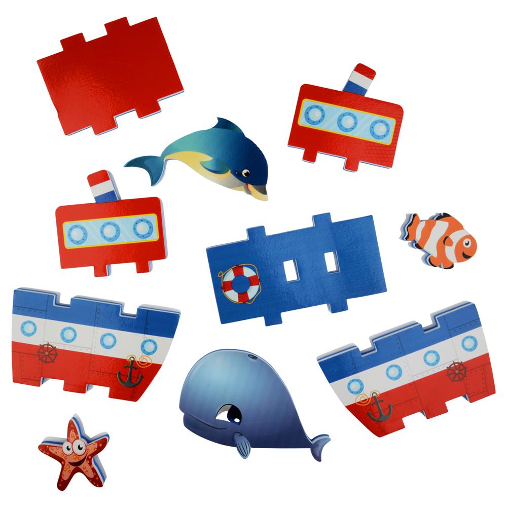 Стикеры для ванны - Построй пароходикСтикеры для ванны<br>Стикеры для ванны - Построй пароходик<br>