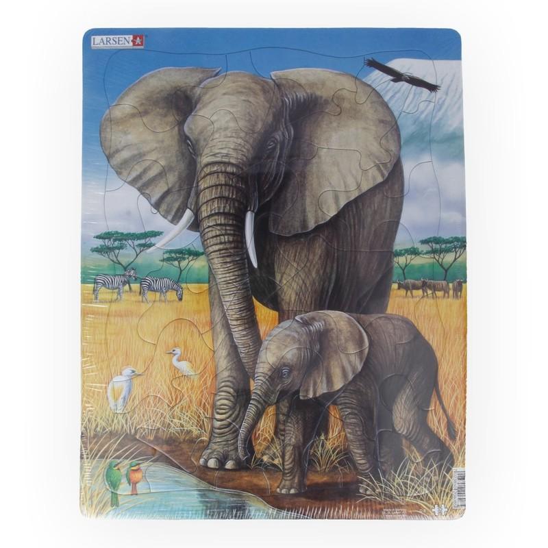 Купить Пазл – Слон, 32 детали, Larsen