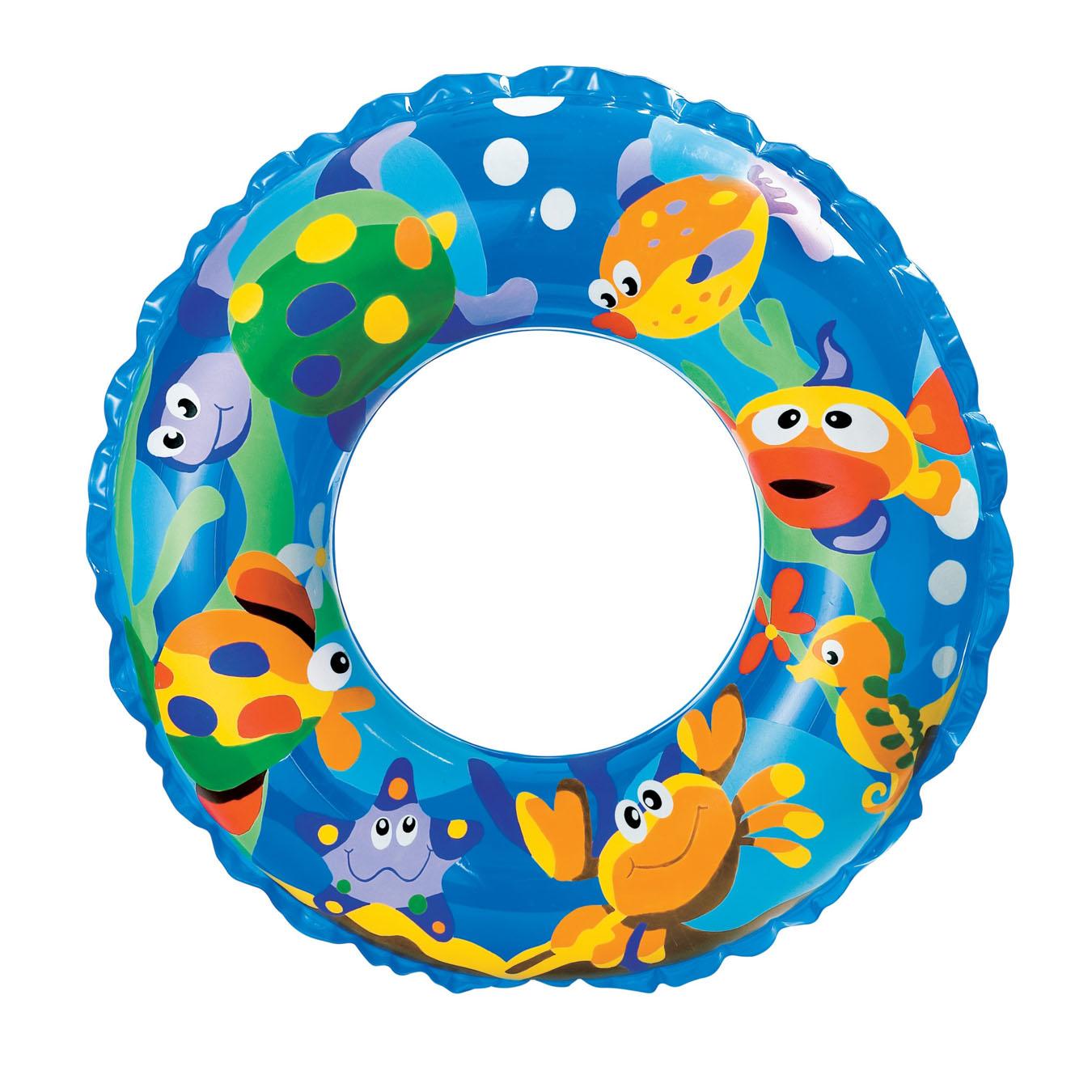 Круг надувной TransparentНадувные животные, круги и матрацы<br>Круг надувной Transparent<br>